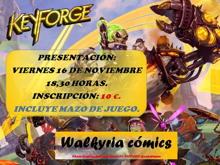 Presentación Keyforge en Walkyria Cómics