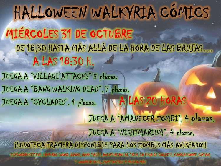 Halloween en Walkyria Cómics