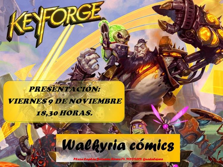 Ven a jugar a Keyforge a Walkyria Cómics