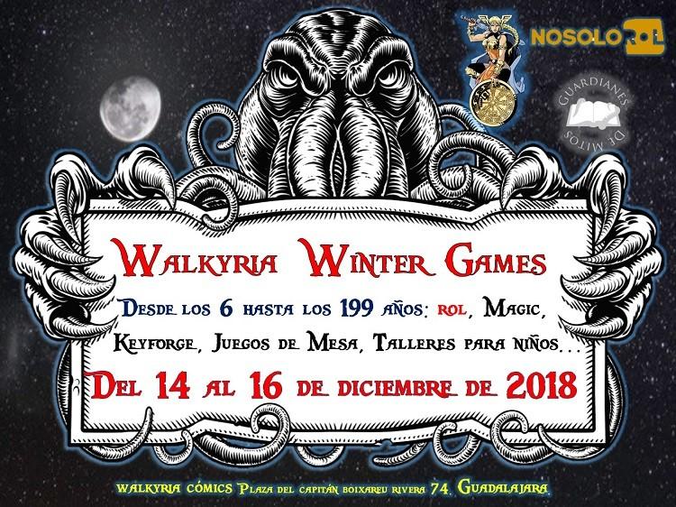 Juegos de Mesa, de cartas y mucho más en WALKYRIA WiINTER GAMES. Del 14 al 16 de Diciembre