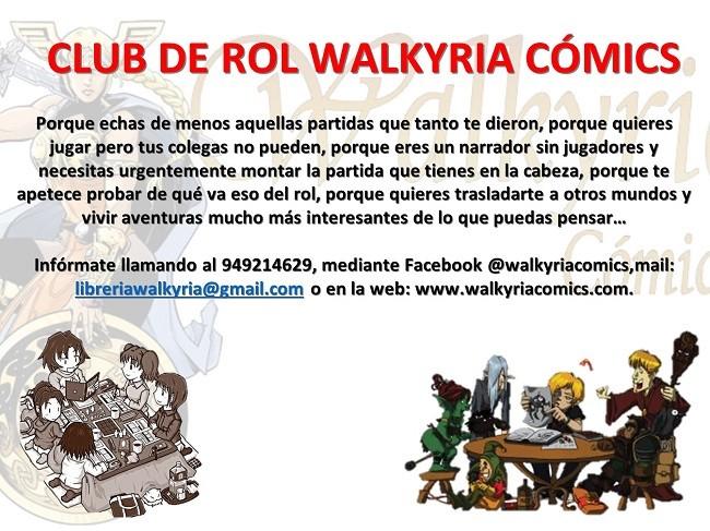 Disfruta del rol con nosotros formando parte del Club de Rol Walkyria Cómics