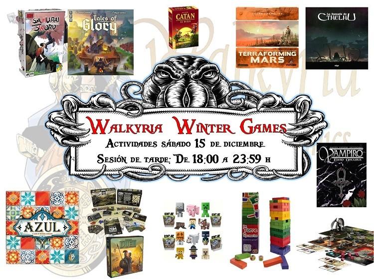 Programación de la jornada de sábado de los Walkyria Winter Games